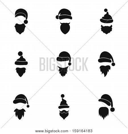Magician Santa Claus icons set. Simple illustration of 9 magician Santa Claus vector icons for web