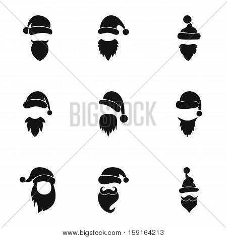 Wizard Santa Claus icons set. Simple illustration of 9 wizard Santa Claus vector icons for web