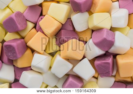colorful fruit gummy confectionery, for color background