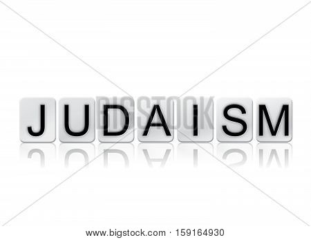 Judaism Isolated Tiled Letters Concept And Theme