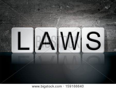 Laws Tiled Letters Concept And Theme