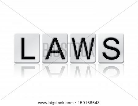 Laws Isolated Tiled Letters Concept And Theme
