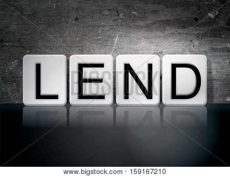 Lend Tiled Letters Concept And Theme