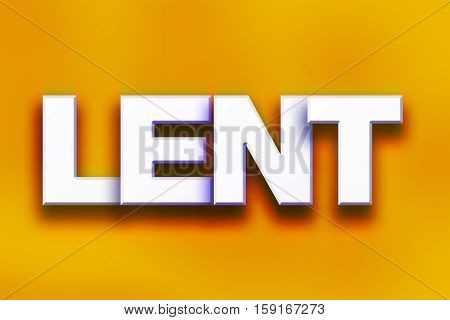 Lent Concept Colorful Word Art