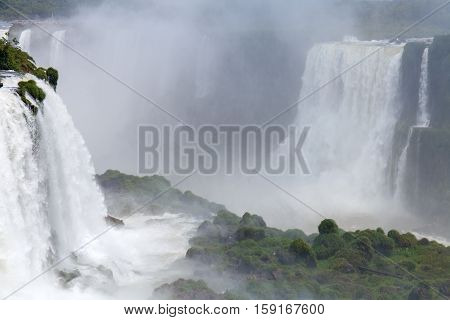 Iguazu. Natural Wonder of the World. Argentina. The majestic beauty. the deafening roar of a waterfall. spray