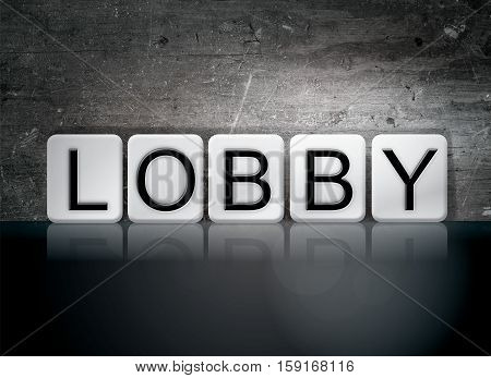 Lobby Tiled Letters Concept And Theme