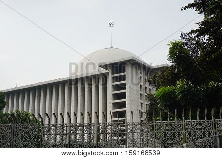 istiqlal mosque moslem in jakarta indonesia photo