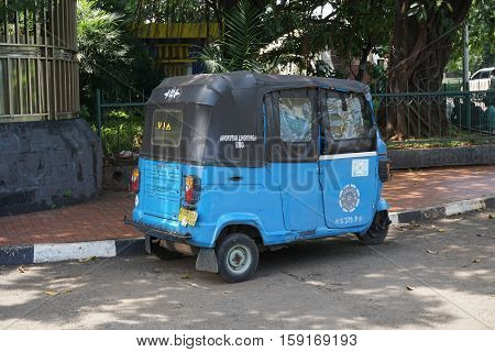 bajaj bajai old public transportation in jakarta indonesia photo