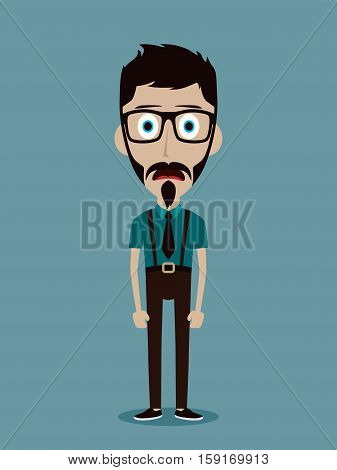 Businessman Office Guy Funny Cartoon Character