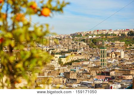 Scenic View To The Medina Of Fes
