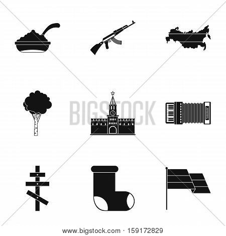 Tourism in Russia icons set. Simple illustration of 9 tourism in Russia vector icons for web
