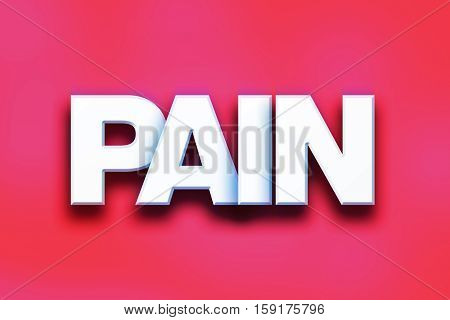 Pain Concept Colorful Word Art