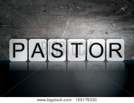 Pastor Tiled Letters Concept And Theme