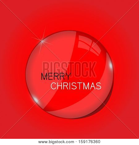 Christmas orb illustration on a red background