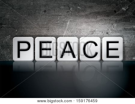 Peace Tiled Letters Concept And Theme