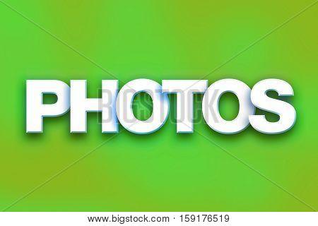 Photos Concept Colorful Word Art
