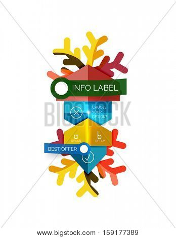 Sale Christmas tags and stickers. Vector New Year greeting card element
