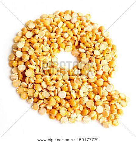 The peas Initials letter Q.