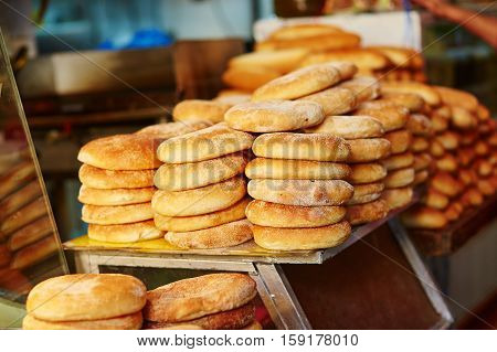 Bread On Moroccan Market