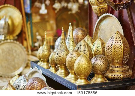 Lamps On Moroccan Marke