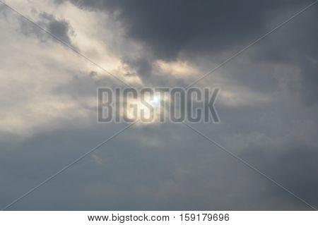 rain cloud hide the sun on the dull sky