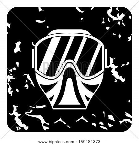 Mask for paintball icon. Grunge illustration of mask for paintball vector icon for web
