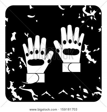 Glove icon. Grunge illustration of glove vector icon for web
