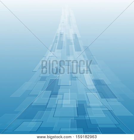 Abstract blue background with geometric, stock vector