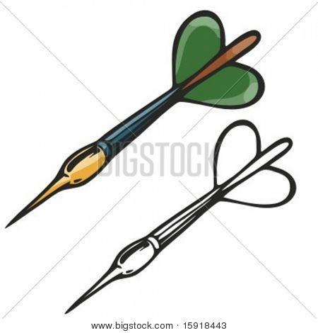 Vector illustration of a dart.