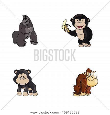 gorilla animal collection vector illustration design eps 10