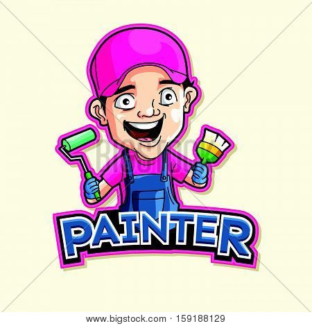 painter logo vector illustration design eps 10