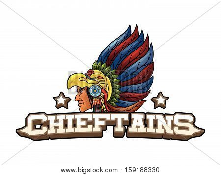 chieftains banner vector illustration design eps 10