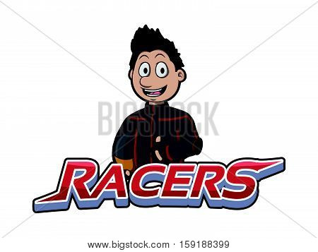 racers banner racers banner illustration design colorful