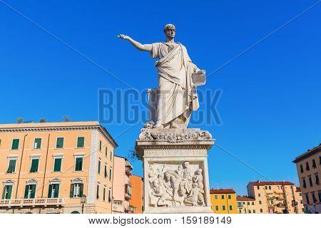 Statue Of Leopold Ii In Livorno, Italy