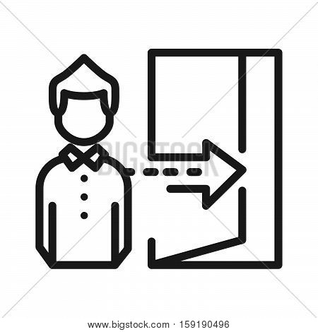 staff dismissal vector illustration design eps 10