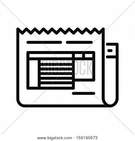 invoice paper vector illustration design eps 10