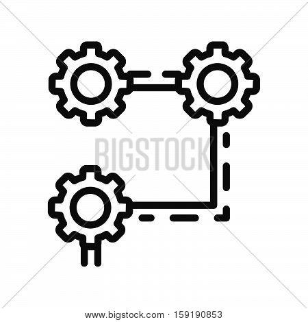 operation process vector illustration design eps 10