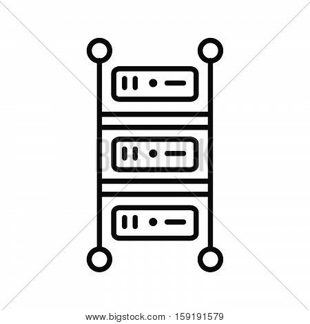 rackmount server vector illustration design eps 10