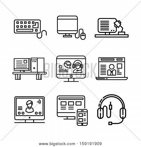 computer and accessories icon set vector illustration design eps 10