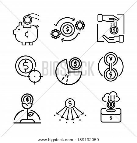 coin icon set vector illustration design eps 10