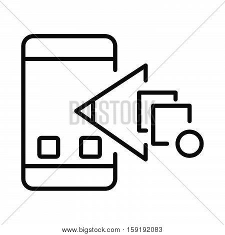 mobile app checkpoint icon vector illustration design eps 10