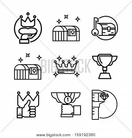 treasury icon set vector illustration design eps 10