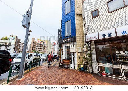 Street Near Tokyo Shop In Asakusa Tokyo