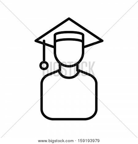 graduate scholar vector illustration design eps 10
