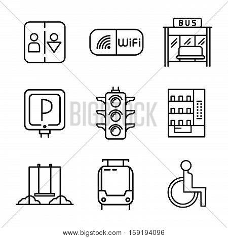 public services icon set public services icon set