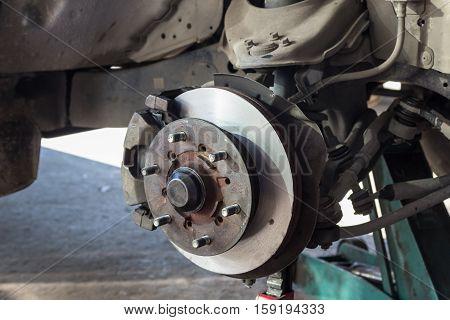 Front Disk Brake After Rebuild Surface On Car