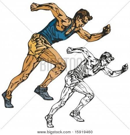 Sprinter vector illustration.