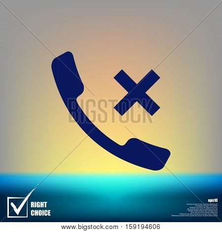 Hang Up The Phone Flat Vector Icon