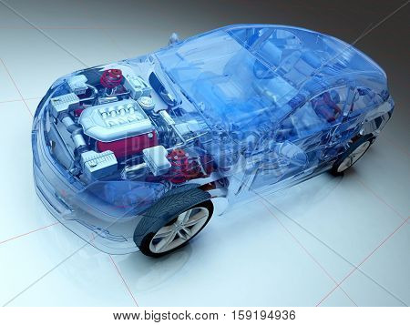 Graphical representation of the model cars.,3d render