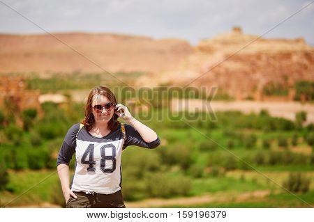 Tourist In Ait Ben Haddou Kasbah